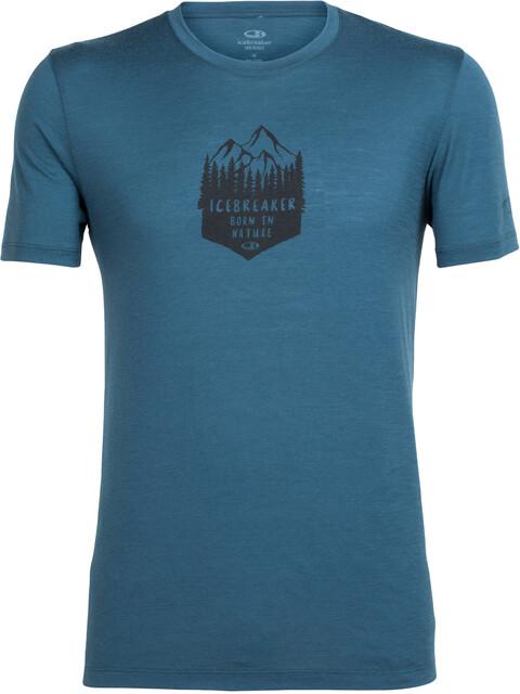 Icebreaker Tech Lite t-shirt Heren petrol
